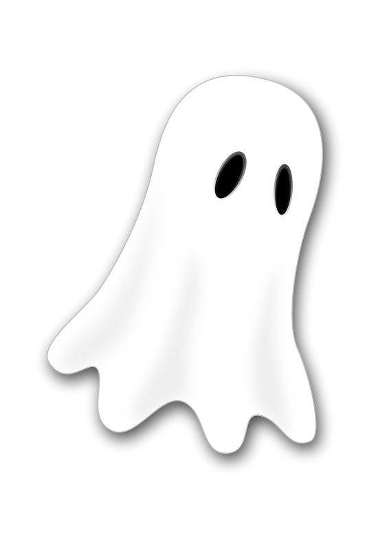 Illustration of a ghost isolated on a white background : Free Stock Photo