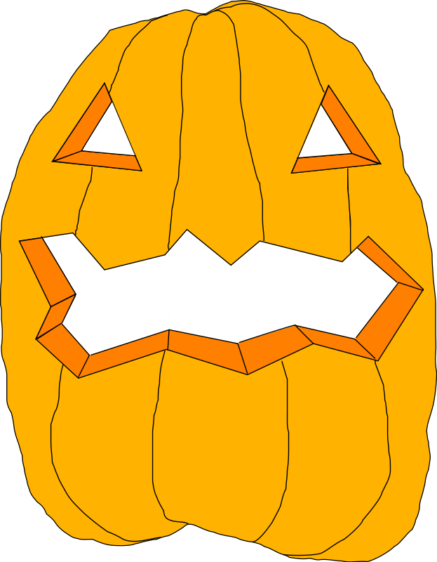 Illustration of a jack-o-lantern : Free Stock Photo