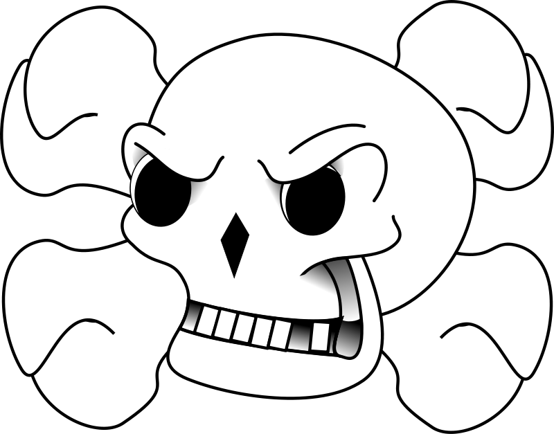 Illustration of a skull and crossbones : Free Stock Photo