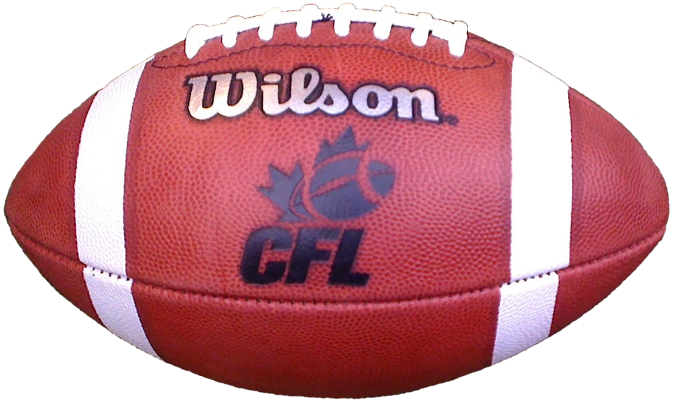 A Canadian Football League football isolated on a white background : Free Stock Photo