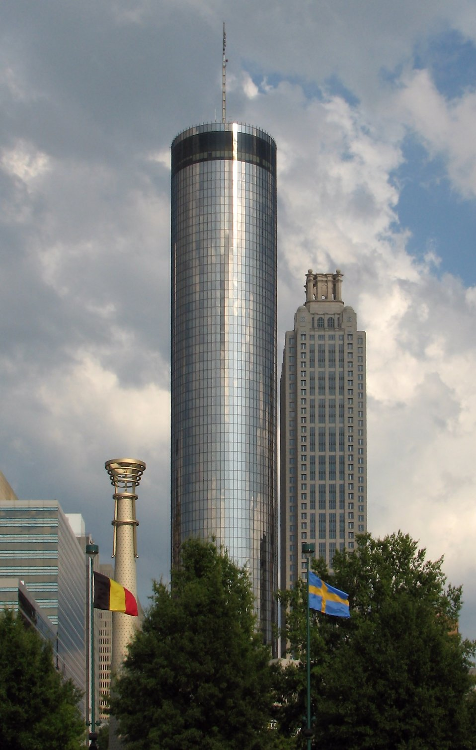 Atlanta buildings viewed from Olympic Park : Free Stock Photo