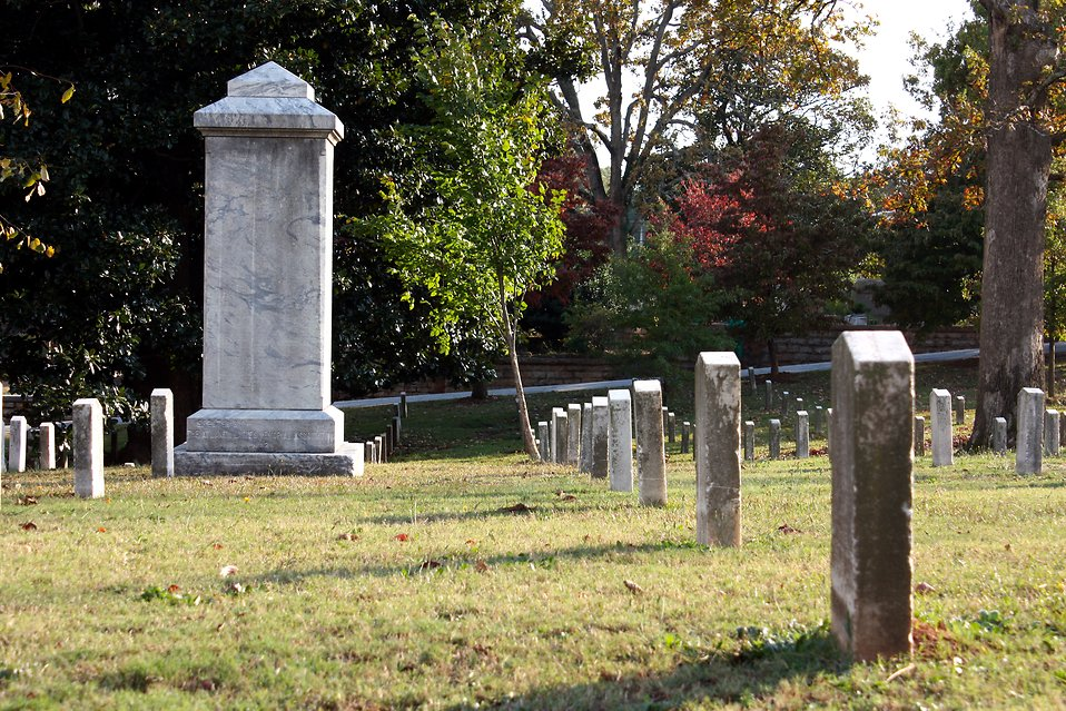Blank tombstones at historic Oakland Cemetery in Atlanta, Georgia : Free Stock Photo