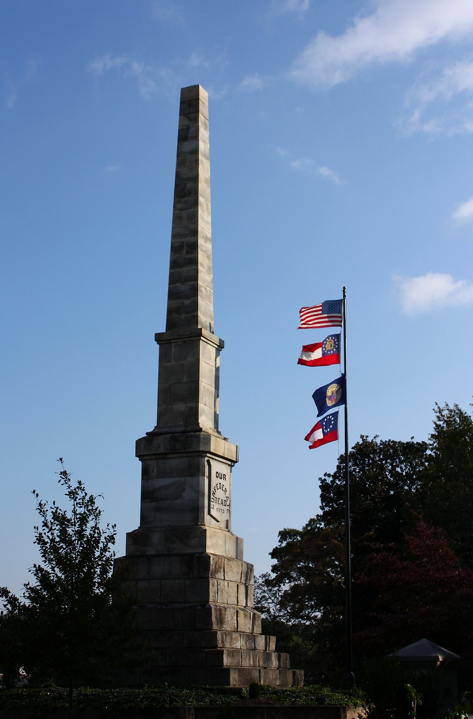 The Confederate Obelisk at historic Oakland Cemetery in Atlanta, Georgia : Free Stock Photo