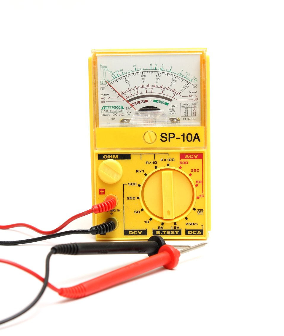 Close-up of a multimeter isolated on a white background : Free Stock Photo