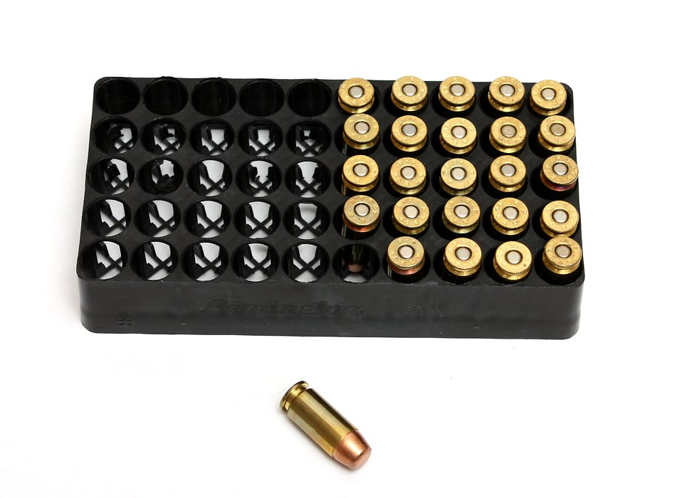A box of bullets on a white background : Free Stock Photo