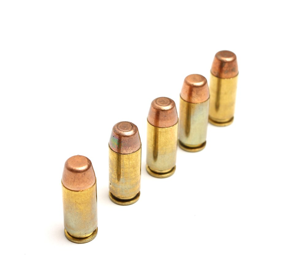 A line of bullets isolated on a white background : Free Stock Photo