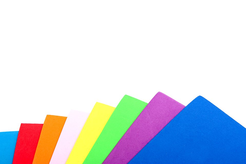 A stack of colored squares isolated on a white background : Free Stock Photo