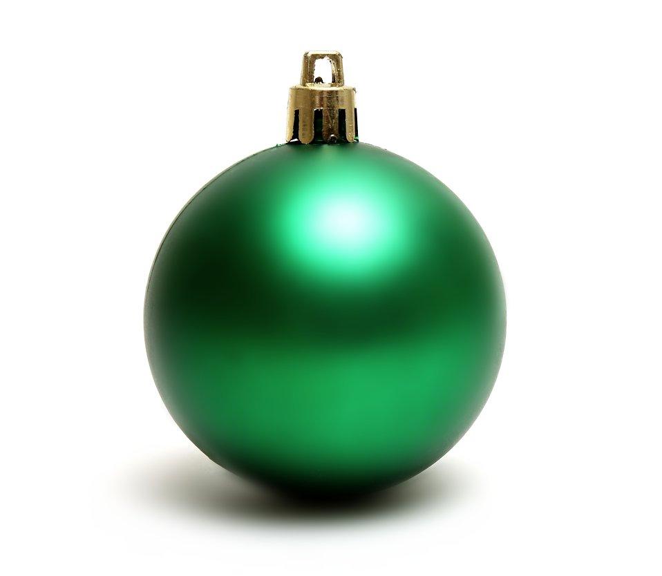 Green Christmas Ornaments Xmasblor