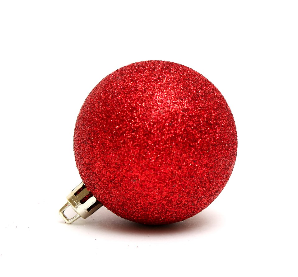 ornament red free stock photo a red christmas ornament