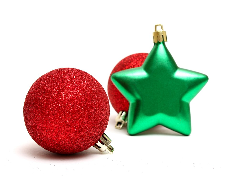 Ornaments | Free Stock Photo | Red and green Christmas ornaments ...