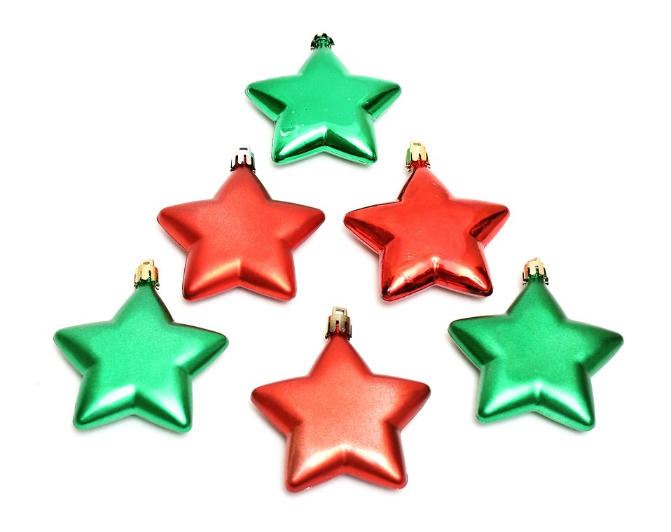 Ornaments free stock photo red and green star shaped