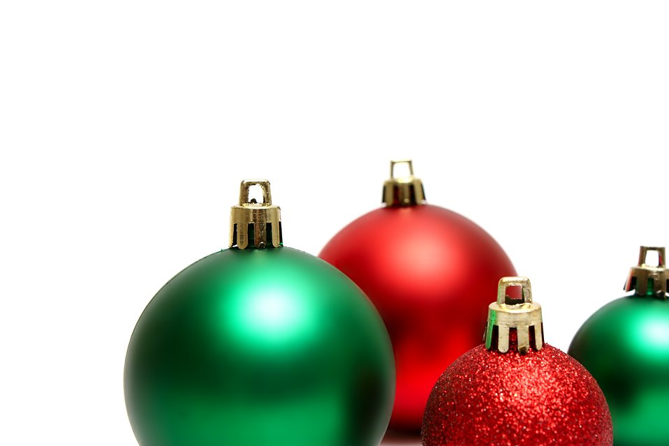 Christmas Green And Red.Ornaments Free Stock Photo Green And Red Christmas