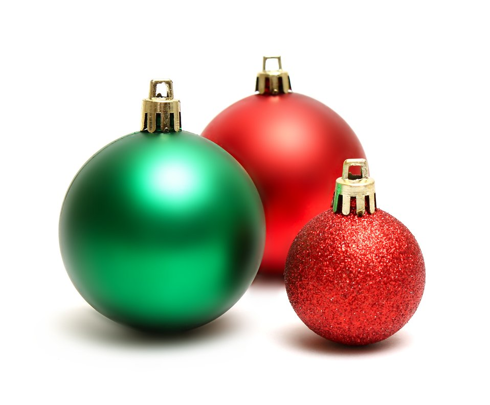 Ornaments | Free Stock Photo | Green and red Christmas ornaments ...