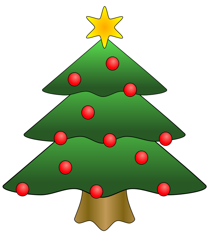 Illustration of a decorated Christmas tree : Free Stock Photo