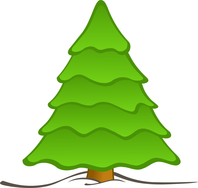 Illustration of a plain Christmas tree : Free Stock Photo