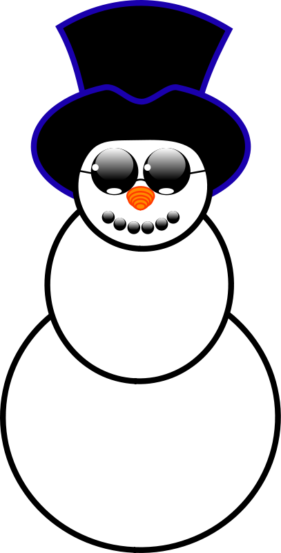 Illustration of a snowman : Free Stock Photo