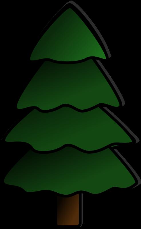 Illustration of a Christmas tree : Free Stock Photo