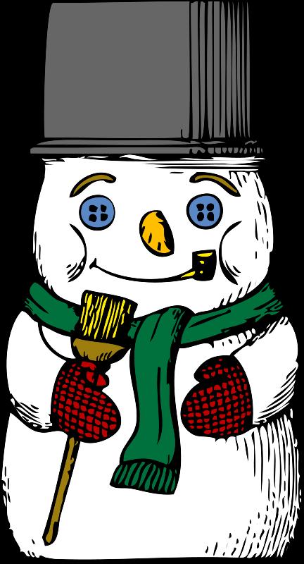 Illustration of a snowman : Free Stock Photo