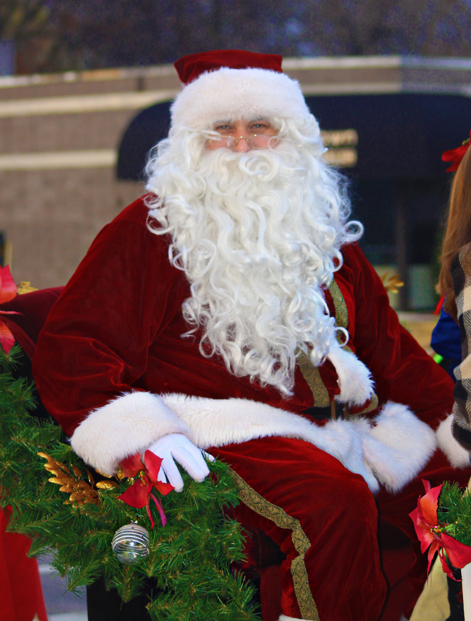 Santa Claus at a Christmas parade : Free Stock Photo