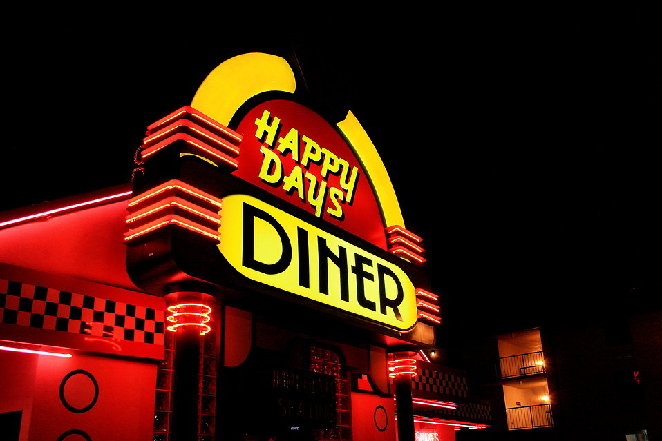 A neon diner sign : Free Stock Photo