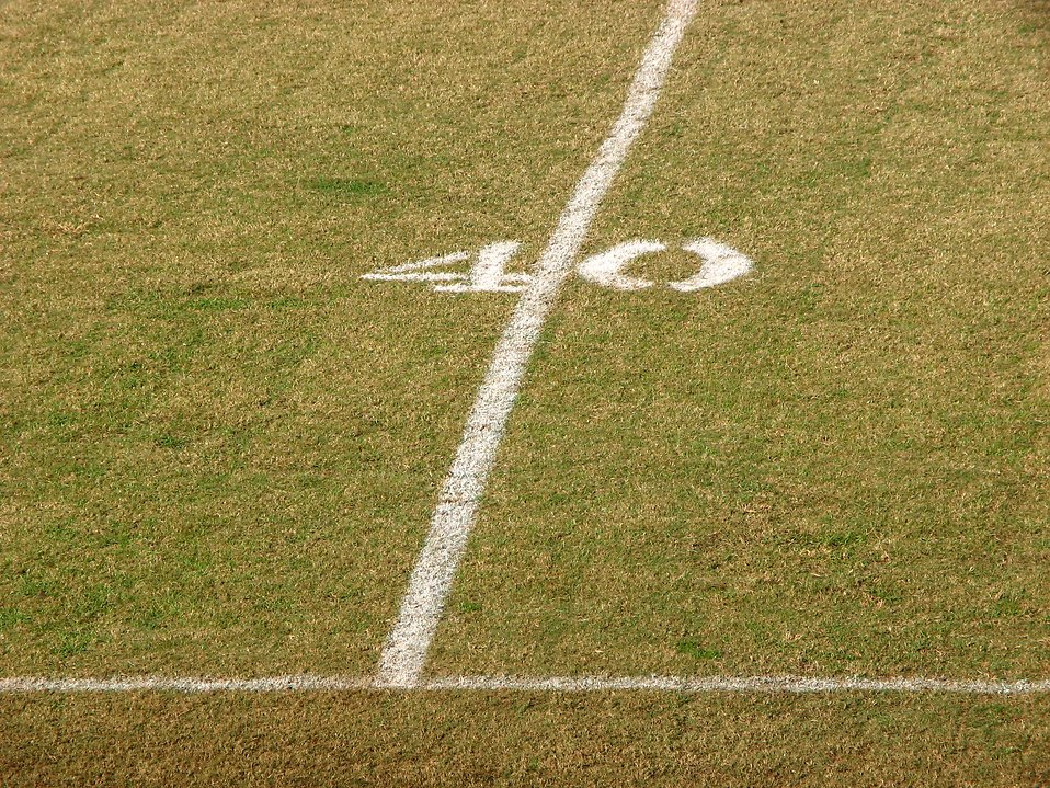 40 yard line on a football field : Free Stock Photo