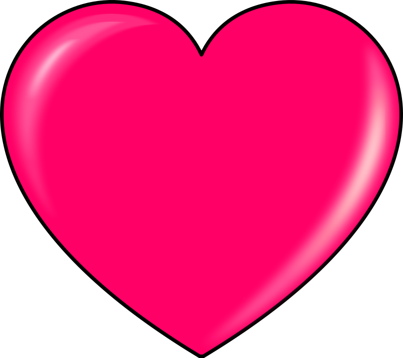Illustration of a pink heart : Free Stock Photo