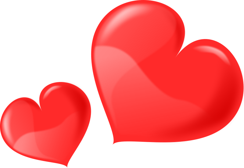 Illustration of red hearts : Free Stock Photo