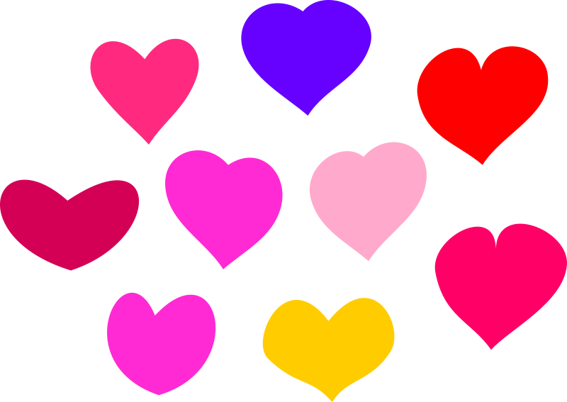 Illustration of colorful hearts : Free Stock Photo