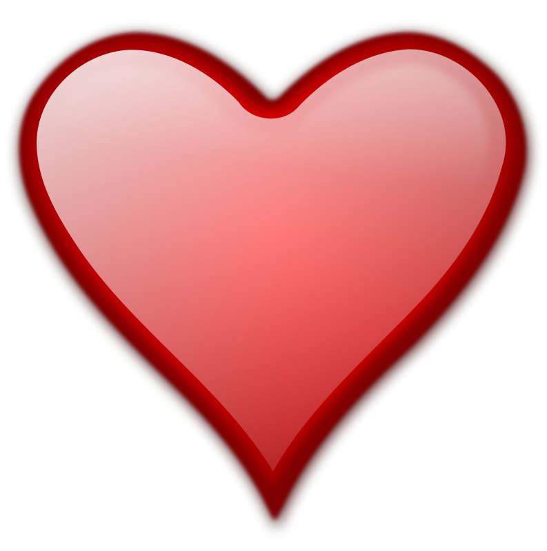 red heart clip art free. Illustration of a red heart