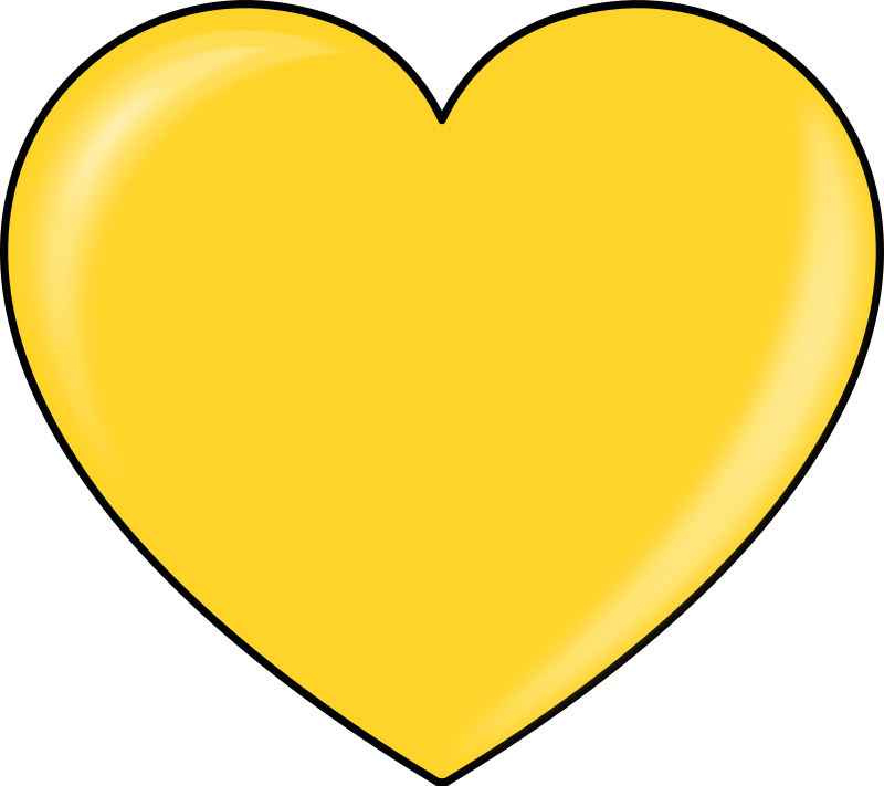 Illustration of a gold heart : Free Stock Photo