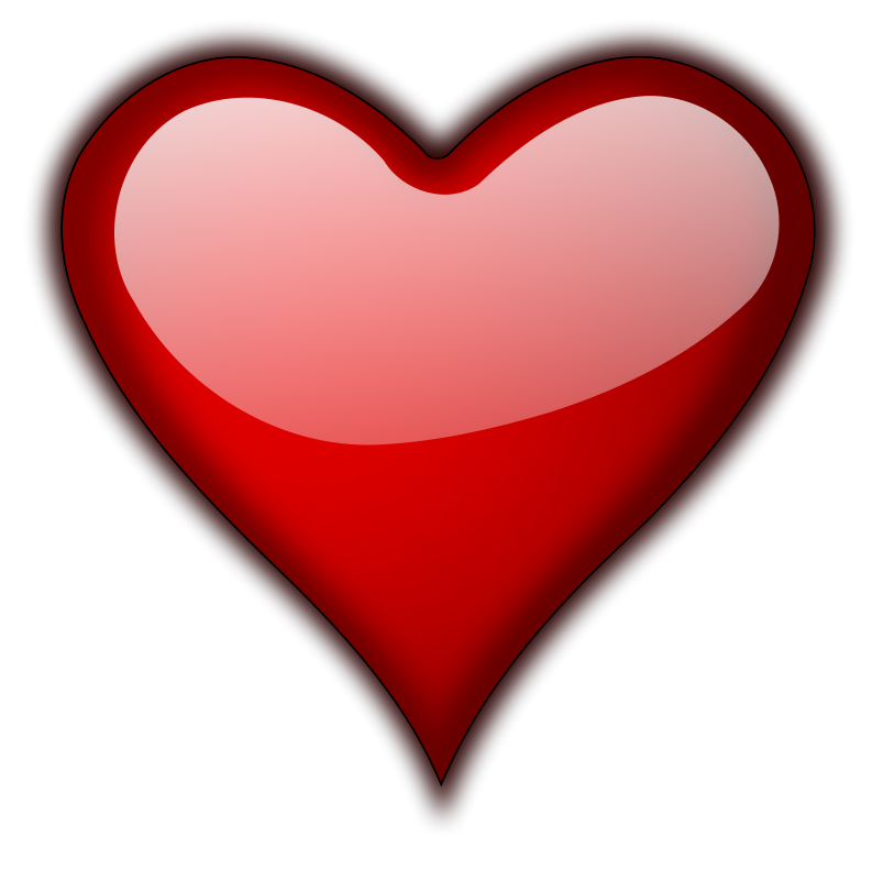 Illustration of a red heart isolated on a transparent background : Free Stock Photo