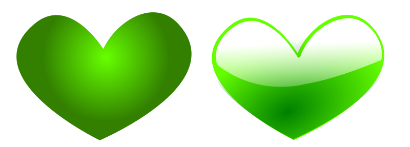 Illustration of green hearts : Free Stock Photo