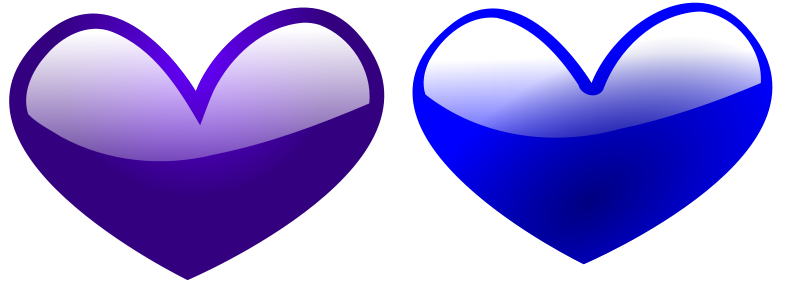 Illustration of blue hearts : Free Stock Photo