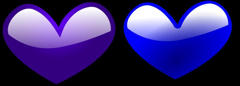 Illustration of blue hearts : Free Stock Photo