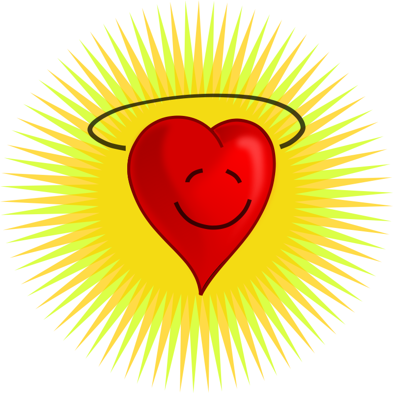 Illustration of a happy red heart : Free Stock Photo