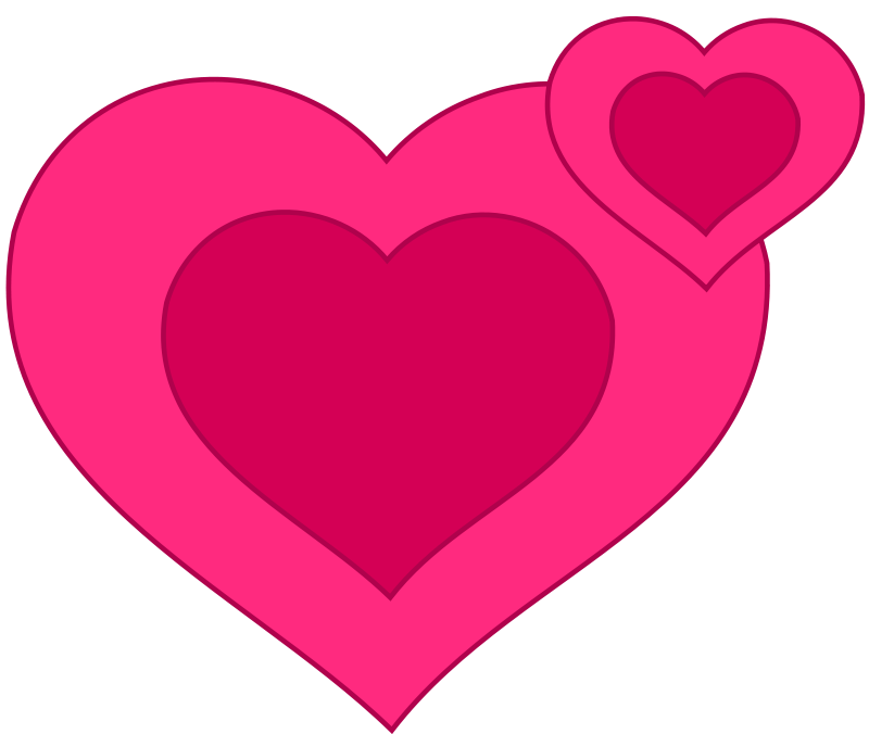 Illustration of pink hearts : Free Stock Photo