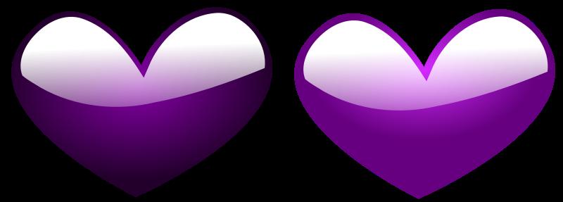 Illustration of purple hearts : Free Stock Photo