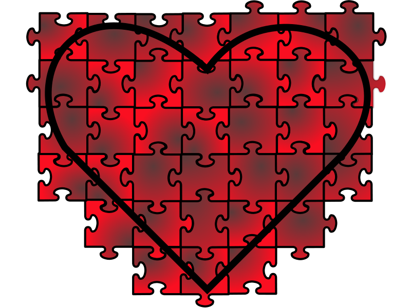 Illustration of a red heart isolated on a transparent background.