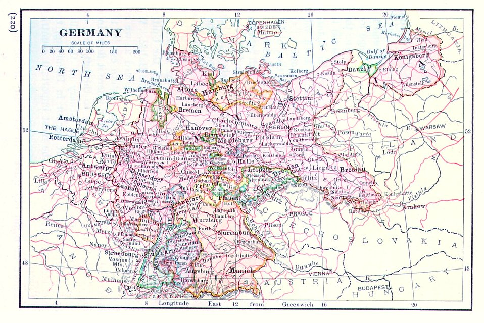 A vintage map of Germany : Free Stock Photo