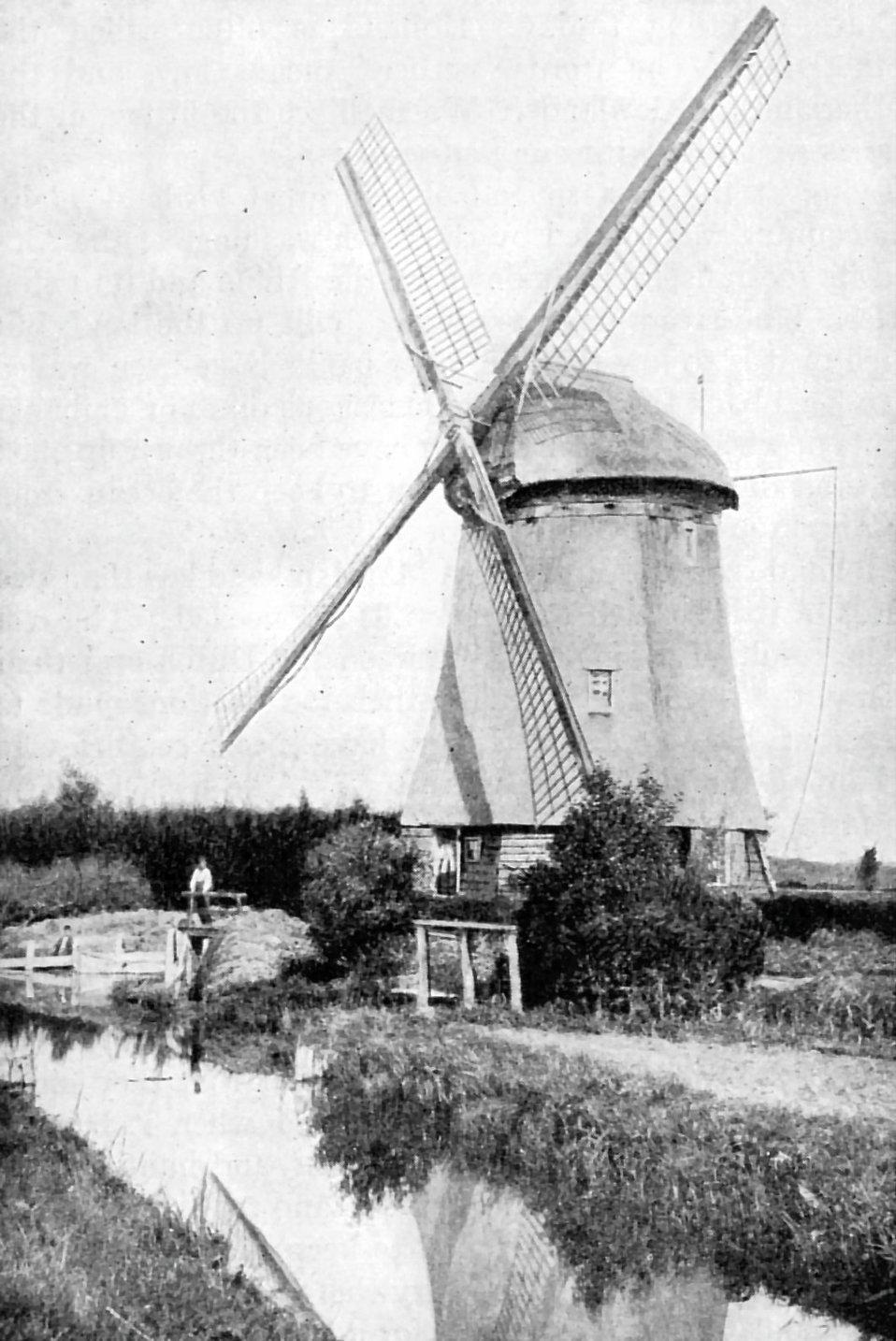 A Dutch windmill : Free Stock Photo