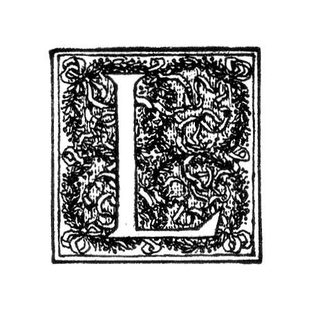 Vintage illustration of an ornate letter L : Free Stock Photo
