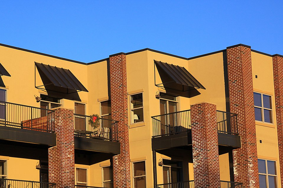 Balconies On An Apartment Building Free Stock Photo