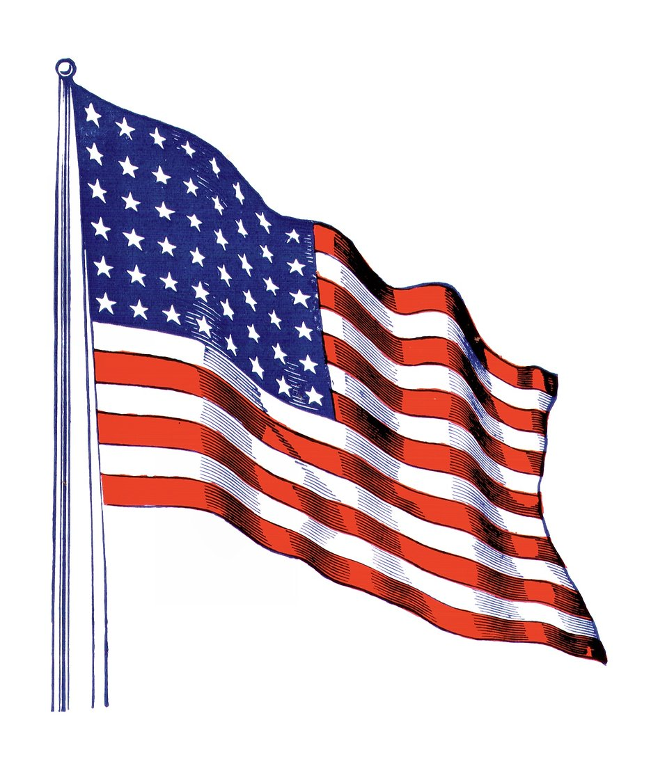 An illustration of a United States flag : Free Stock Photo
