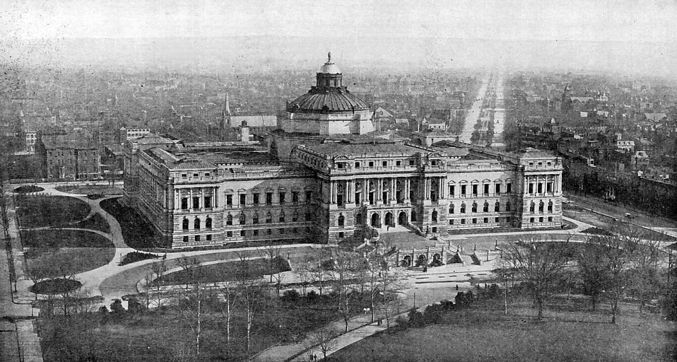A vintage photo of the Library of Congress : Free Stock Photo