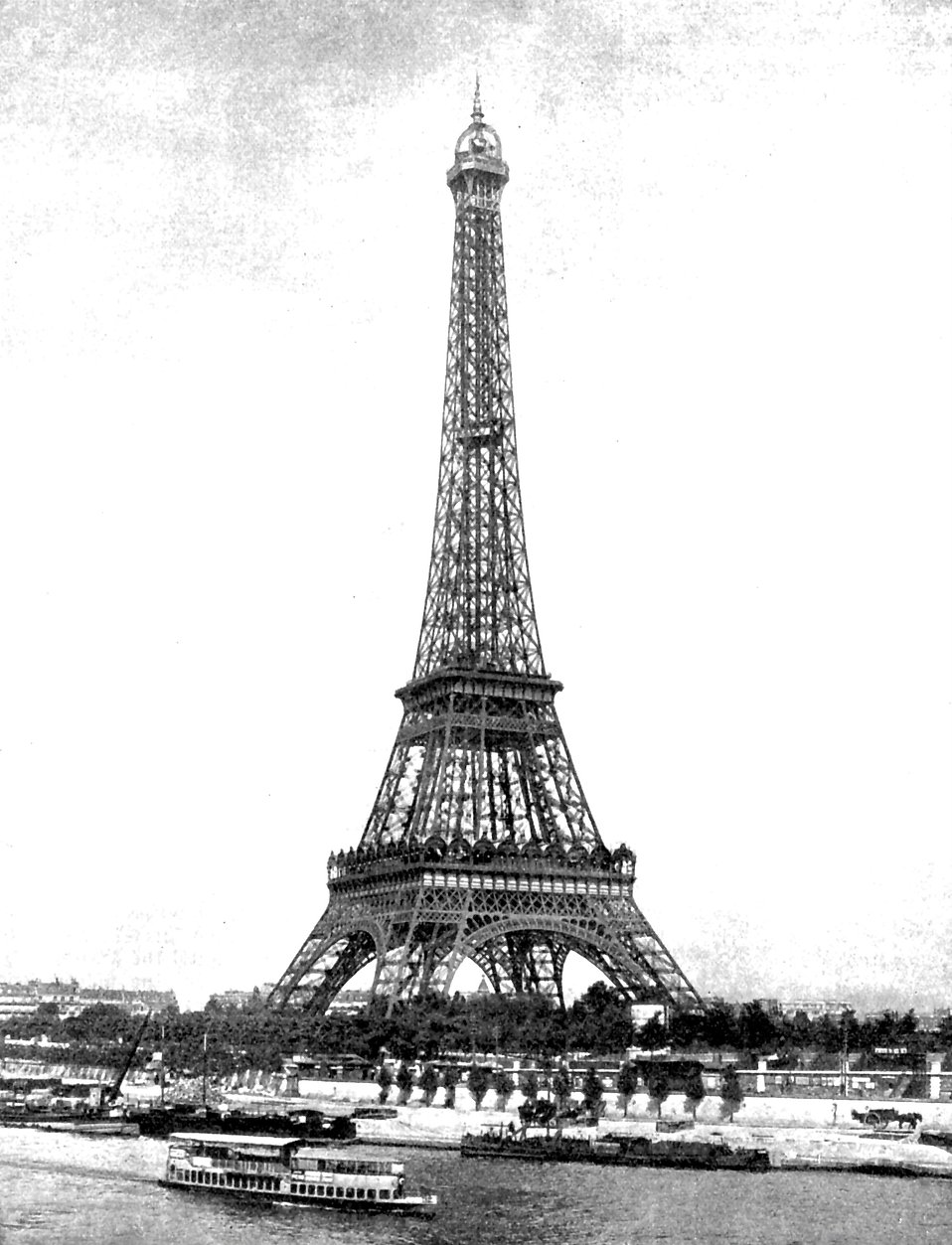 Vintage photo of the Eiffel Tower in Paris, France : Free Stock Photo