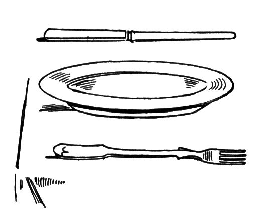 Illustration of a table setting : Free Stock Photo