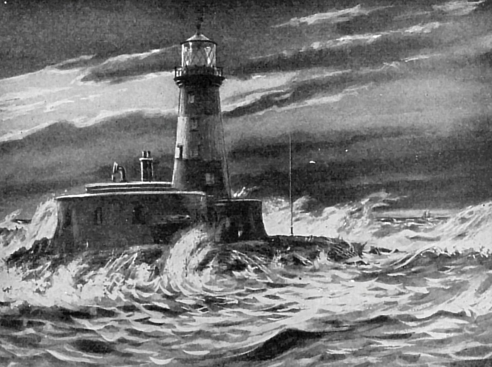 Vintage illustration of a lighthouse : Free Stock Photo