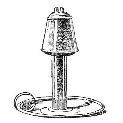 Vintage illustration of a whale oil lamp : Free Stock Photo