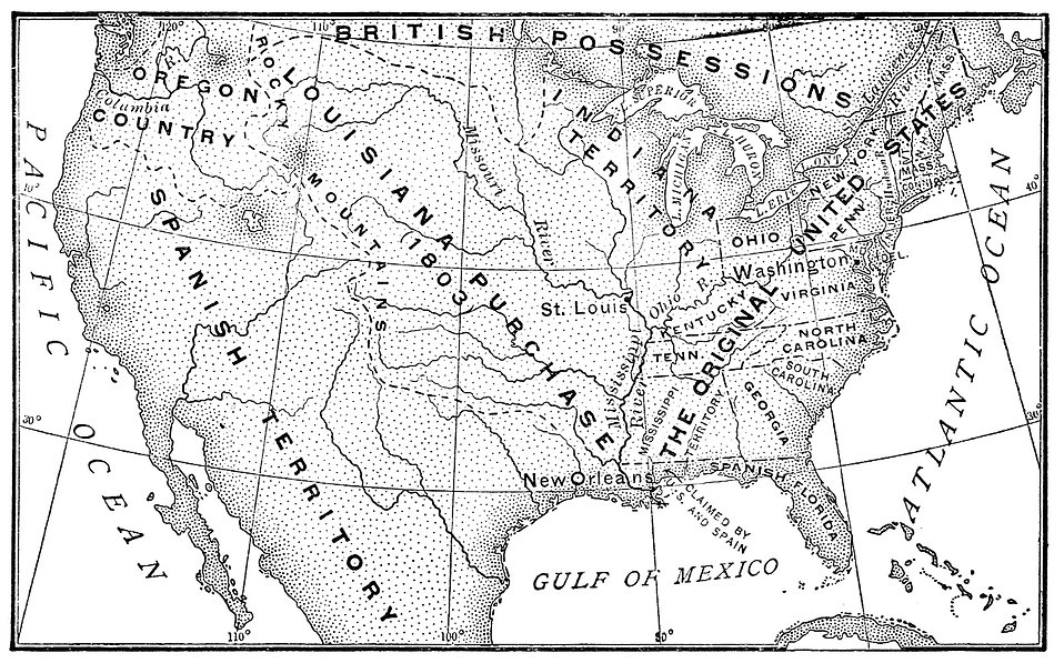 Vintage map of the United States from 1803 : Free Stock Photo