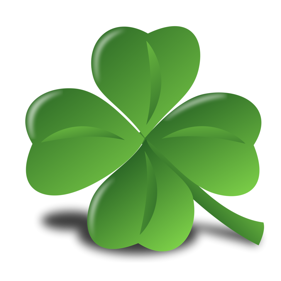 Illustration of a four leaf clover.
